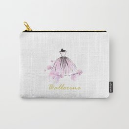 Flowers And Rosy Ballerina Carry-All Pouch