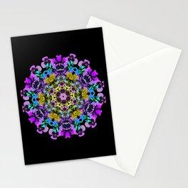 Spring wildflower mandala 2 Stationery Cards