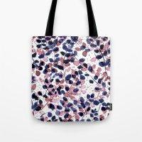 Tote Bags featuring Synergy Indigo by Jacqueline Maldonado