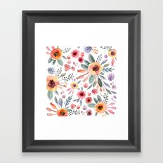 flower watercolor 2 Framed Art Print