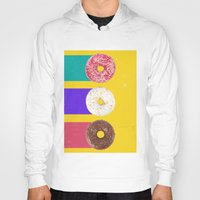donuts Hoodies featuring Donuts by Danny Ivan