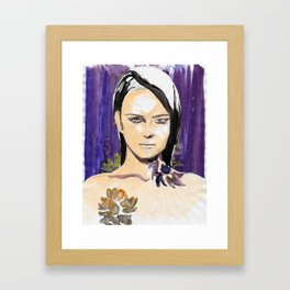 Purple beauty fashion lllustration Framed Art Print