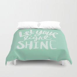 Let Your Light Shine x Mint Duvet Cover