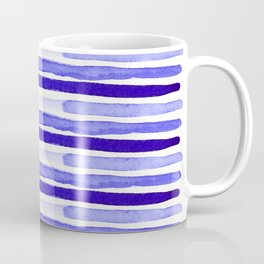 Ultra Violet Watercolour Stripes Coffee Mug