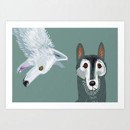 Totem Canadian wolf 2 Art Print