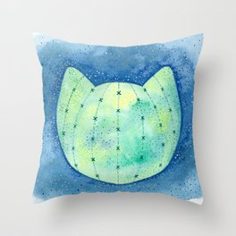 Cat-tus Planet Throw Pillow