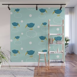 Kiwi birds on the clouds Wall Mural
