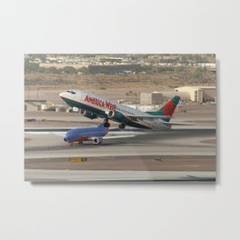 America West Airlines 737-300 and Southwest 737-300 Metal Print