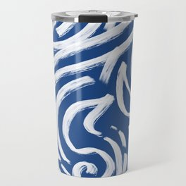 Cool Tribe of Water Abstract Pattern Travel Mug