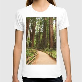 Walking Through The Muir Woods T-shirt