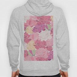Rose Peony Flowers Hoody