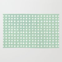 polka dots Area & Throw Rugs featuring polka dots by JesseRayus