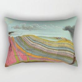 Vintage Geology and Meteorology Diagram (1893) Rectangular Pillow