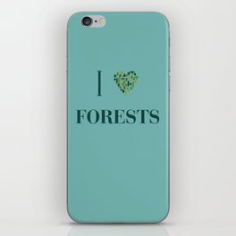 I heart Forests iPhone Skin