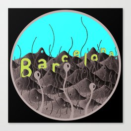 barcelonic mountains Canvas Print
