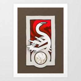 Cygnus Muerte Art Print