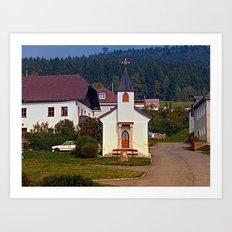 The village church of Hintenberg I | architectural photography Art Print
