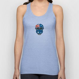 Baby Owl with Glasses and Australian Flag Unisex Tank Top