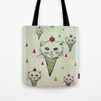 kittens Tote Bags featuring kittens by blueart
