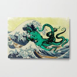 Great Octo-Wave Metal Print
