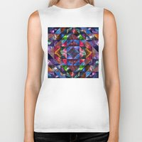 quilt Biker Tanks featuring Space Quilt by deff