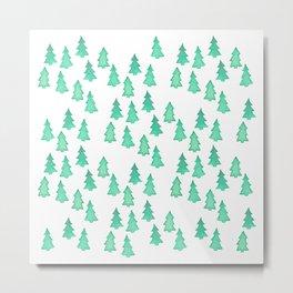 Christmas Tree Forest Metal Print