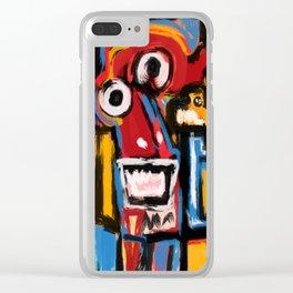 Art Brut Outsider Art Street Graffiti Clear iPhone Case