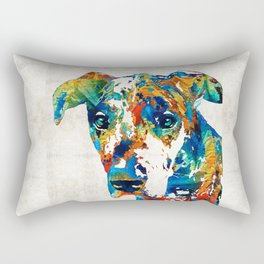 Colorful Great Dane Art Dog By Sharon Cummings Rectangular Pillow