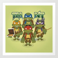 tmnt Art Prints featuring TMNT by Micka Design