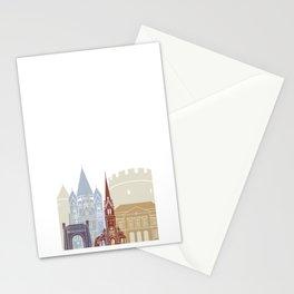 Metz skyline poster Stationery Cards
