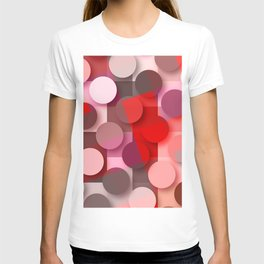 dots & squares red T-shirt
