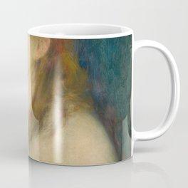 Classic Art - Young Woman Braiding Her Hair - Auguste Renoir Coffee Mug