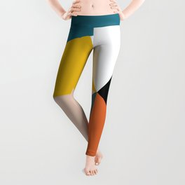 Triangles abstract colorful art Leggings
