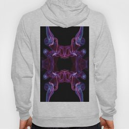 Blue pink twisted smoke abstract Hoody