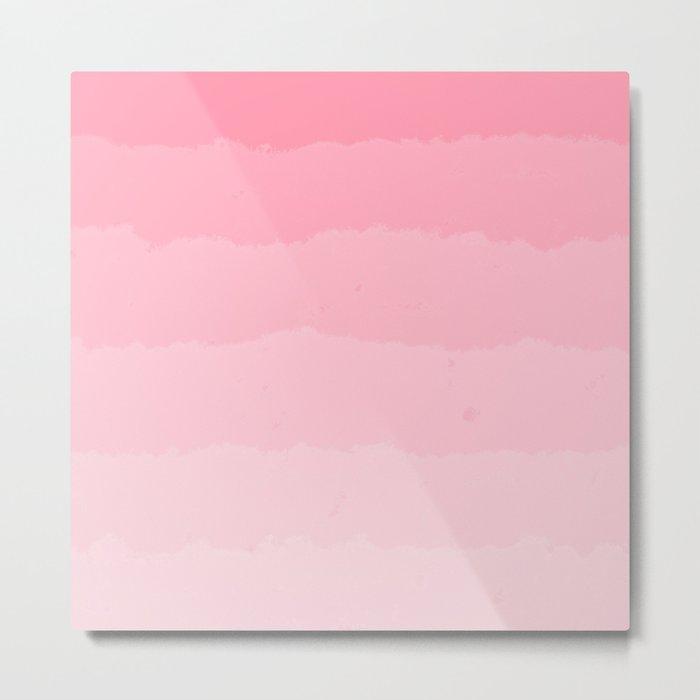 Light Pink Cloud Layers Metal Print