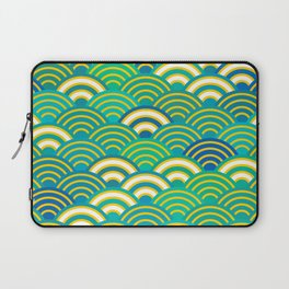 abstract scales simple Spring Nature background with japanese circle Laptop Sleeve