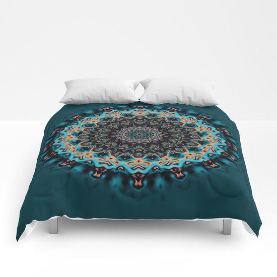 Colorful mandala Comforters