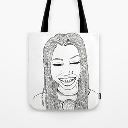 Beautiful African woman with twist braids Tote Bag