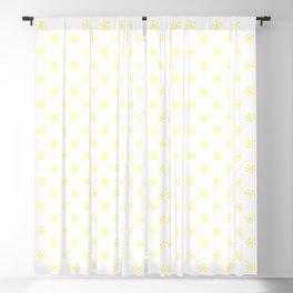 Electric Yellow on White Snowflakes Blackout Curtain