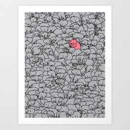 Word 2 the Herd v1 Art Print