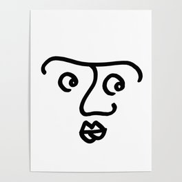 Wondering Face Poster