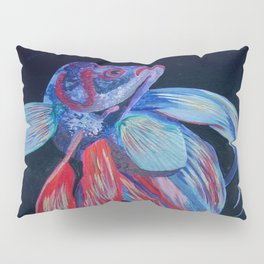 Male Siamese Fighting Fish Betta Splendens Pillow Sham