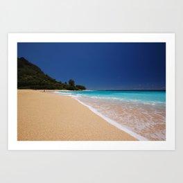 Tunnels Beach,kauai Art Print