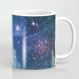 Turquoise Glitter Galaxy Coffee Mug