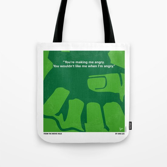 No040 My HULK minimal movie poster Tote Bag