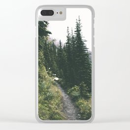 Happy Trails IV Clear iPhone Case