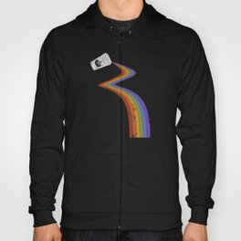 Coffee Cup Rainbow Pour // Abstract Barista Wall Hanging Artwork Graphic Design Hoody