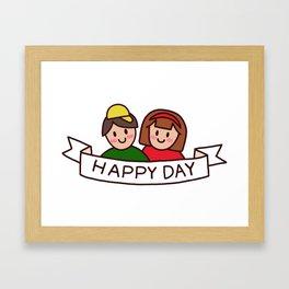 Benji & Vali Happy Day Framed Art Print