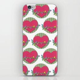 Christmas heart iPhone Skin