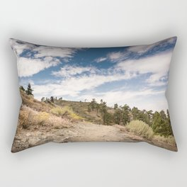 Hiking trail along Pacific Crest Trail in Southern California Rectangular Pillow